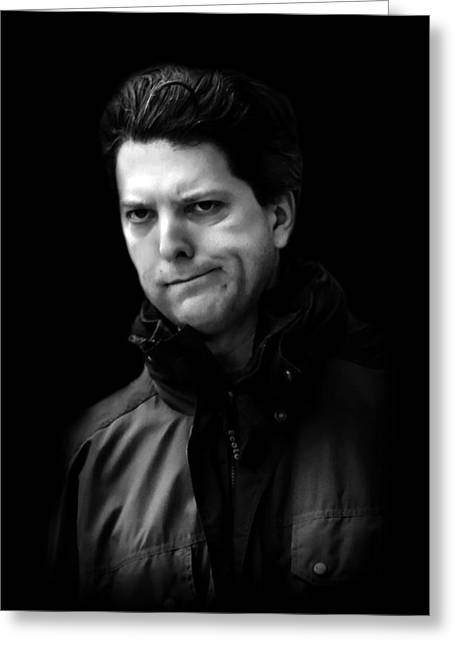 Candid Portraits Greeting Cards - Male-3 Greeting Card by Diana Angstadt