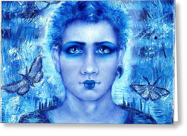 Normal Paintings Greeting Cards - Male Beauty Greeting Card by Blutkind Antizoloft