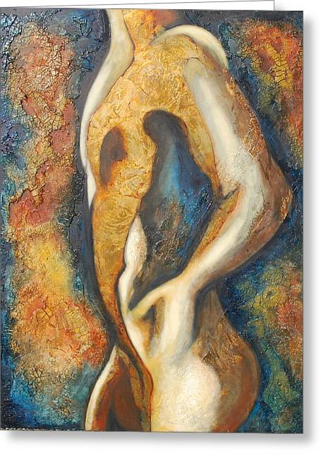 Single Figure Study Greeting Cards - Male figure Greeting Card by Lori McPhee