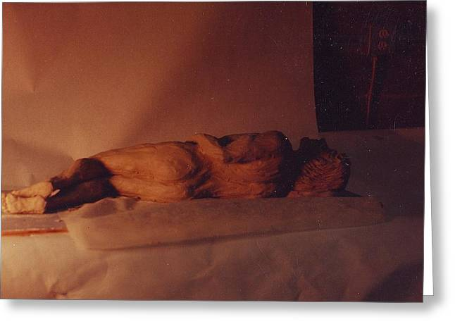 Male Sculptures Greeting Cards - Male nude ... at rest Greeting Card by William Zeidlik