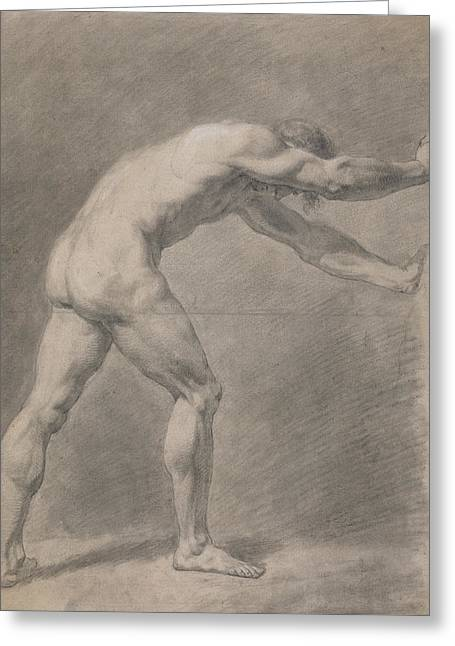 Male Nude  Greeting Card by John Constable
