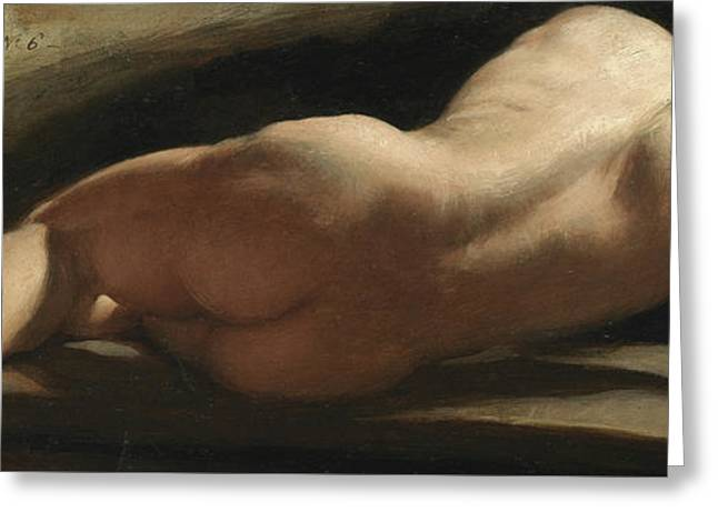 Male Nude Greeting Card by William Frederick Witherington