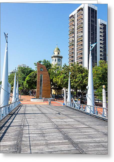 Malecon Greeting Cards - Malecon 2000 View in Guayaquil Greeting Card by Jess Kraft