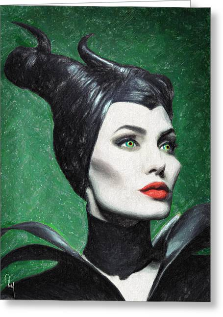 Evil Fairy Greeting Cards - Maleficent Greeting Card by Taylan Soyturk