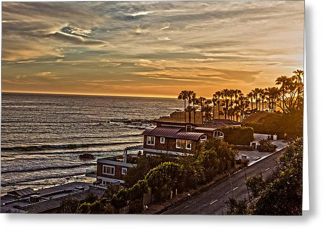 Warm Tones Greeting Cards - Malibu Shores Greeting Card by Bryant Walton