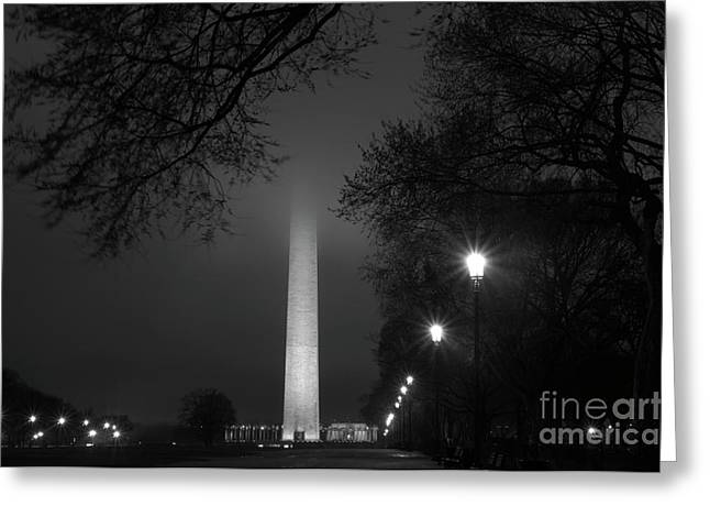 Recently Sold -  - Streetlight Greeting Cards - Mall Night Greeting Card by Michael White