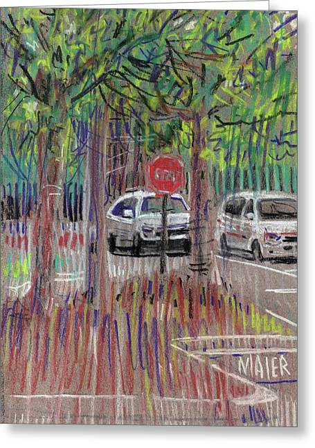 Mall Greeting Cards - Mall Parking Greeting Card by Donald Maier