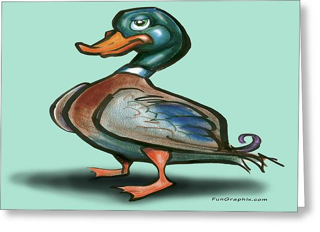 Mallard Duck Greeting Card by Kevin Middleton