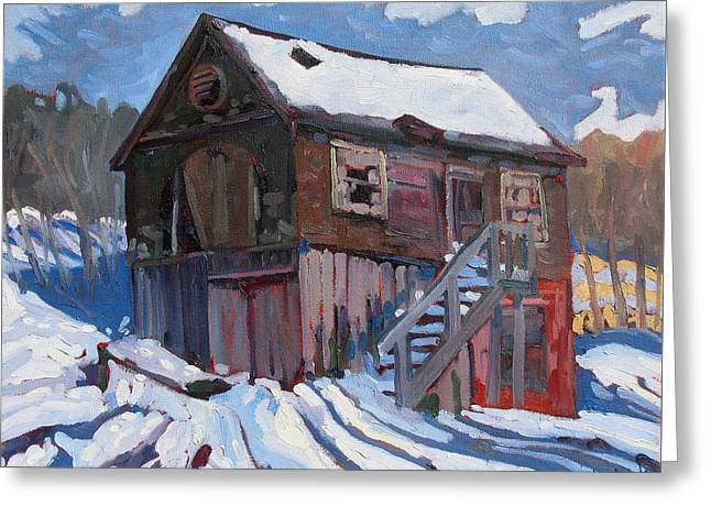 Winter Storm Greeting Cards - Mallorytown Marine Greeting Card by Phil Chadwick