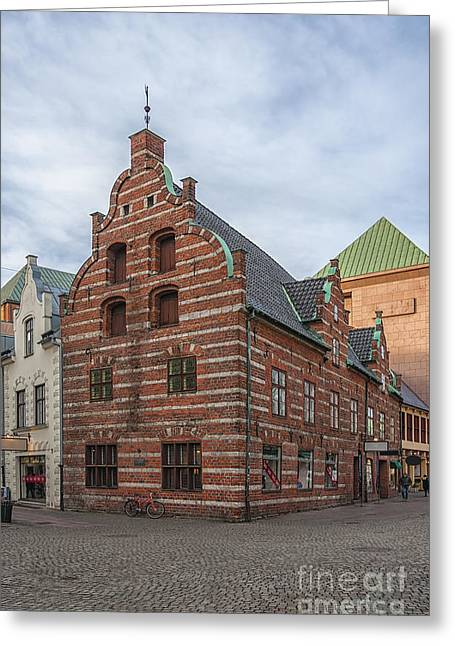 Malmo Greeting Cards - Malmo Old City Center Building Greeting Card by Antony McAulay