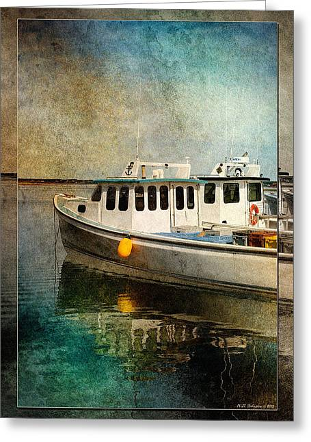 Princes Greeting Cards - Malpeque Harbour Greeting Card by WB Johnston