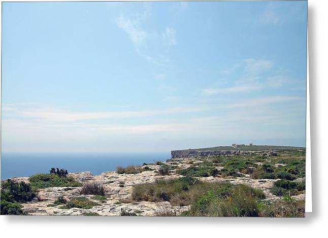 The Hills Greeting Cards - Malta landscape 2 Greeting Card by Johanna Hurmerinta