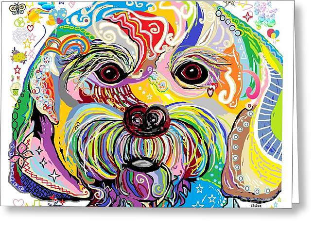 Maltese Puppy Greeting Card by Eloise Schneider