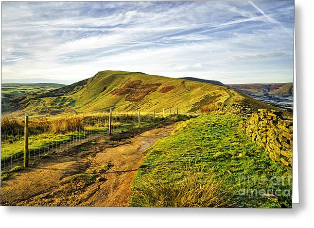 Mam Tor Greeting Card by Stephen Smith