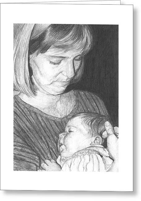 Daughter Gift Greeting Cards - Mama and Child Greeting Card by Susan Singer