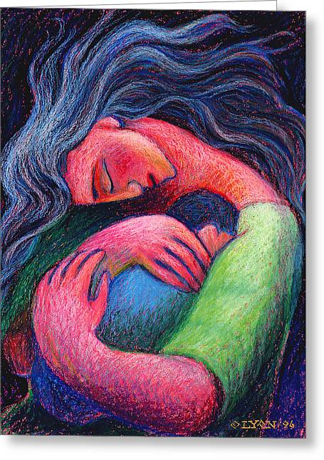Sweet Pastels Greeting Cards - Mama Mama O How I Miss How You Hold Me Greeting Card by Angela Treat Lyon
