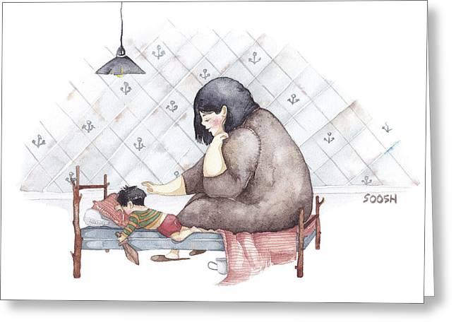 Mama Greeting Card by Soosh