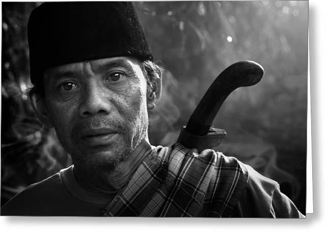 Documentary Photographs Greeting Cards - Mamang Nya Nico Greeting Card by Andre Arment