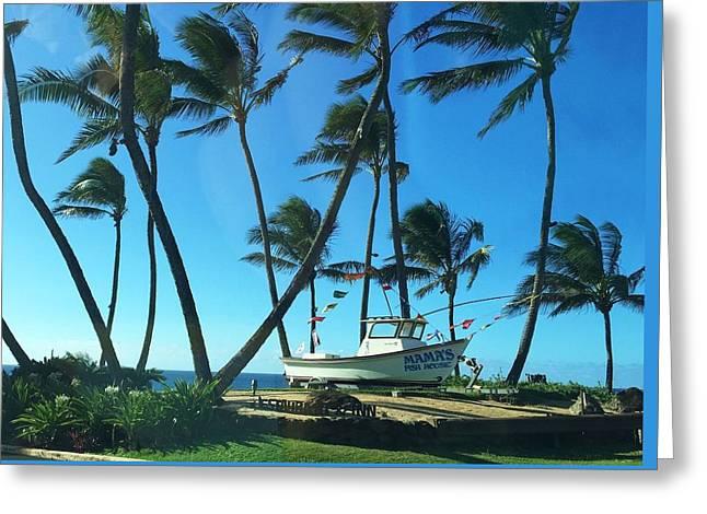 Food Digital Greeting Cards - Mamas Fish House - Maui Greeting Card by Stacia Blase