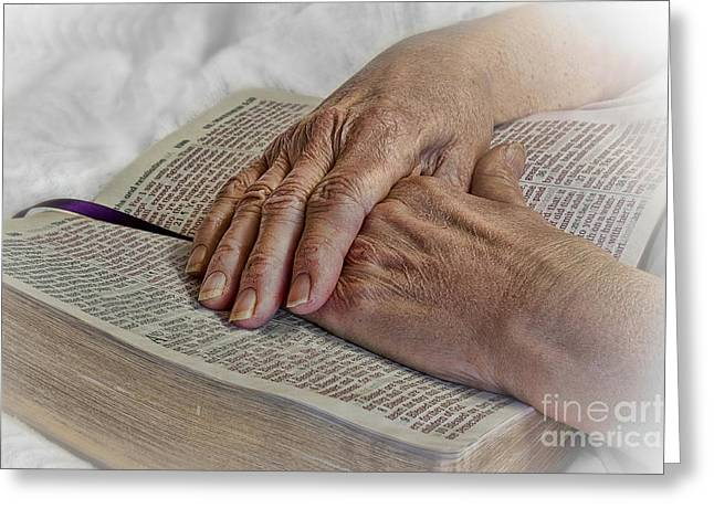 Best Sellers -  - Praying Hands Greeting Cards - Mamas Hands Greeting Card by Jak of Arts Photography