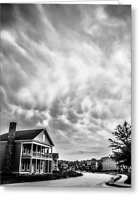 Storm Chasing Greeting Cards - Mammatus Clouds Greeting Card by Shelby  Young