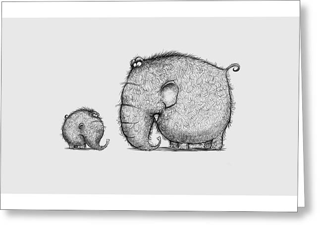 Andy Catling Greeting Cards - Mammothz Greeting Card by Andy Catling