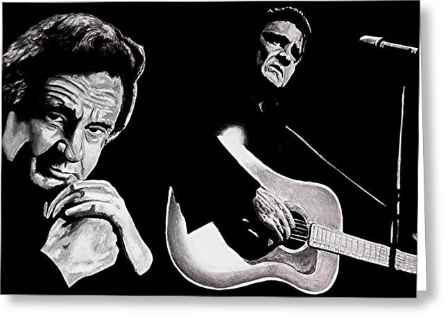 Black Music Greeting Cards - Man in Black Greeting Card by Al  Molina