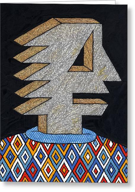 Man In Sweater Greeting Card by Matt Leines
