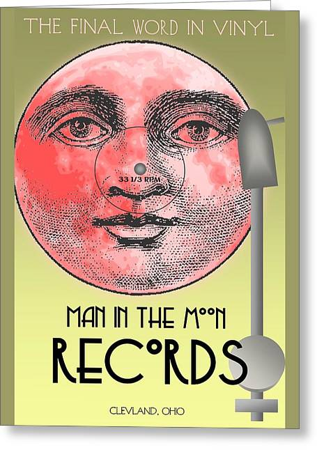 Man In The Moon Greeting Cards - Man In The Moon Greeting Card by Steven Boland