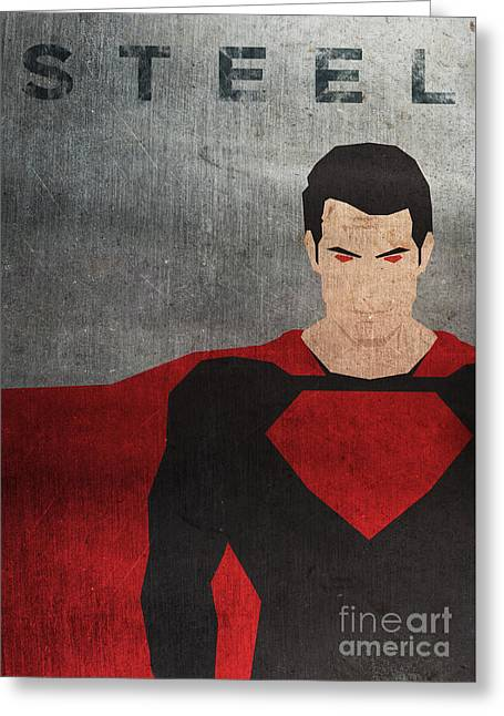 Man Of Steel Minimal Poster Greeting Card by Chris Trudeau