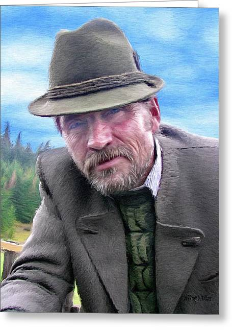 Beard Greeting Cards - Man of the Mountain Greeting Card by Jeff Kolker