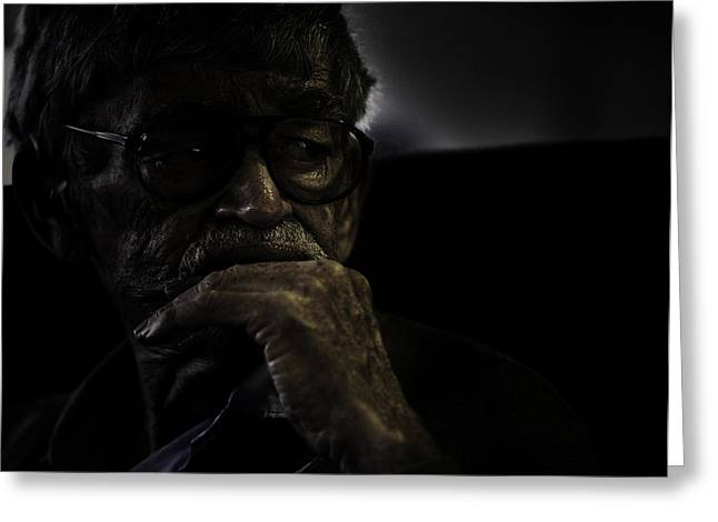 Man On Ferry Greeting Card by Avalon Fine Art Photography