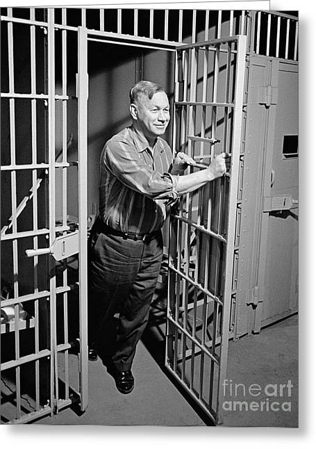 Man Released From Jail, C.1960s Greeting Card by H. Armstrong Roberts/ClassicStock