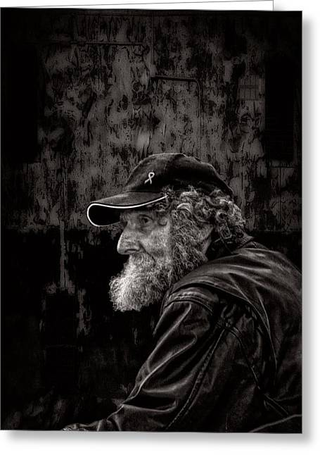 Documentary Photographs Greeting Cards - Man With A Beard Greeting Card by Bob Orsillo