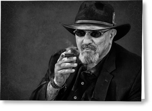 Stogie Greeting Cards - Man with Cigar - Smoking Greeting Card by Nikolyn McDonald
