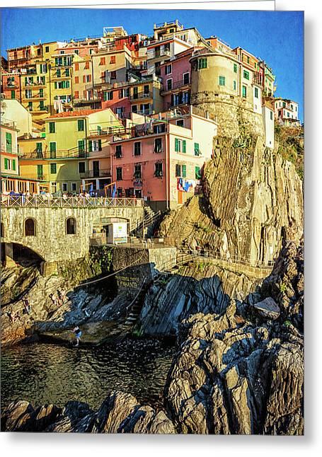 Manarola Afternoon Cinque Terre Italy Greeting Card by Joan Carroll