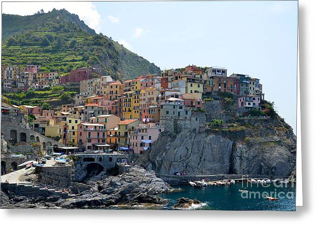 Grapevine Greeting Cards - Manarola Greeting Card by Corinne Rhode
