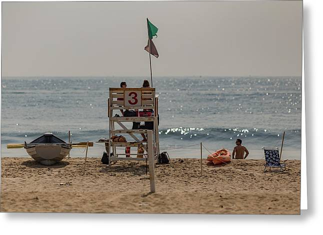 Recently Sold -  - Town Mixed Media Greeting Cards - Manasquan Beach Greeting Card by Capt Gerry Hare