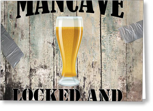 Mancave Greeting Cards - Mancave Locked and Loaded Greeting Card by Mindy Sommers