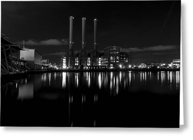 Power Plants Greeting Cards - Manchester Street Power Station Greeting Card by Andrew Pacheco