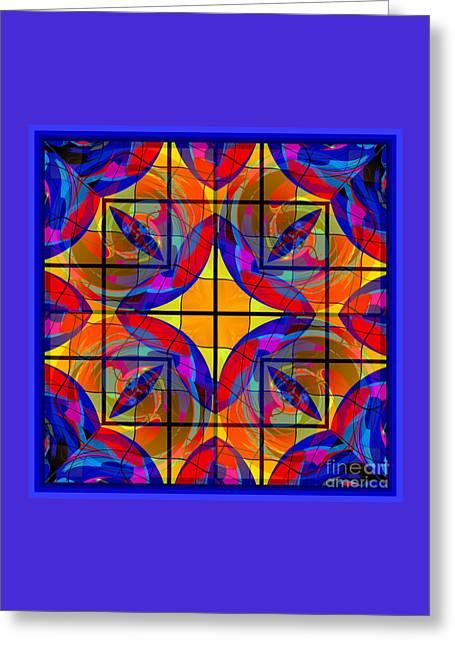 Decorativ Digital Art Greeting Cards - Mandala #19 Greeting Card by Loko Suederdiek