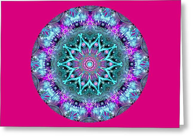 Flower Design Greeting Cards - Mandala 2 Greeting Card by Belma Prses