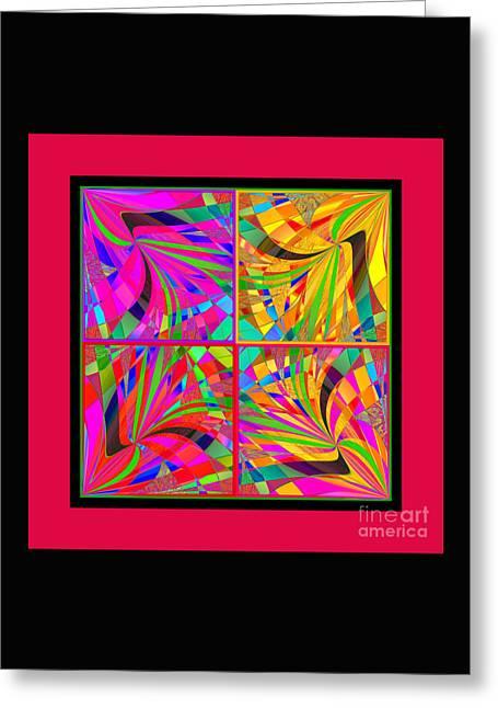 Decorativ Digital Art Greeting Cards - Mandala #25 Greeting Card by Loko Suederdiek