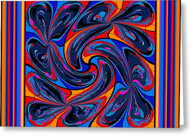 Decorativ Digital Art Greeting Cards - Mandala #3 Greeting Card by Loko Suederdiek