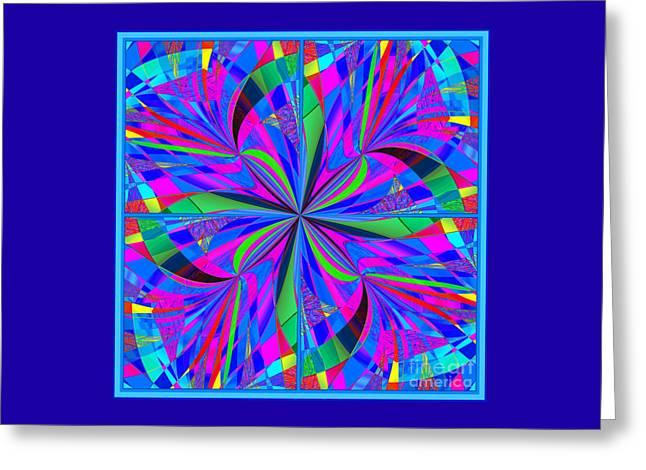 Decorativ Digital Art Greeting Cards - Mandala #46 Greeting Card by Loko Suederdiek