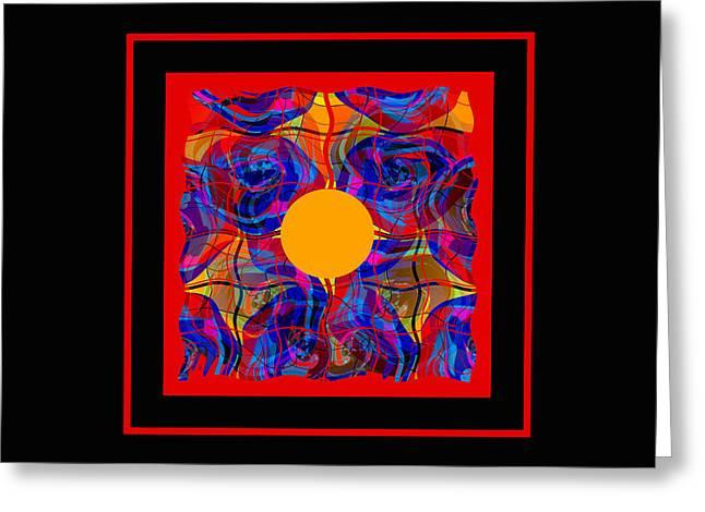 Decorativ Digital Art Greeting Cards - Mandala #5 Greeting Card by Loko Suederdiek