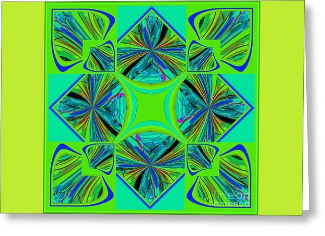 Decorativ Digital Art Greeting Cards - Mandala #7 Greeting Card by Loko Suederdiek