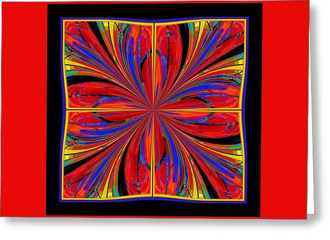 Decorativ Digital Art Greeting Cards - Mandala #8 Greeting Card by Loko Suederdiek