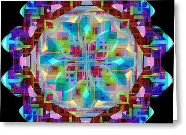 Geometric Art Greeting Cards - Mandala 9725 Greeting Card by Rafael Salazar