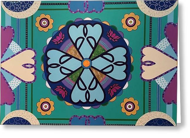 Mandala Greeting Card by Ivy Stevens-Gupta
